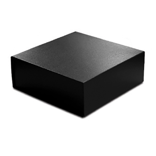 10 x 10 x 4 BLACK LEATHER MAGNETIC GIFT BOX