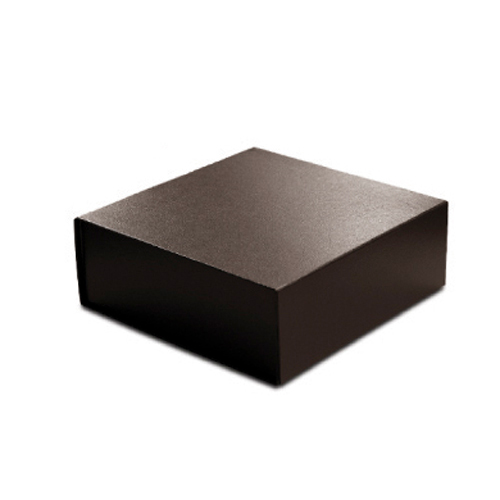 10 x 10 x 4 BROWN LEATHER MAGNETIC GIFT BOX