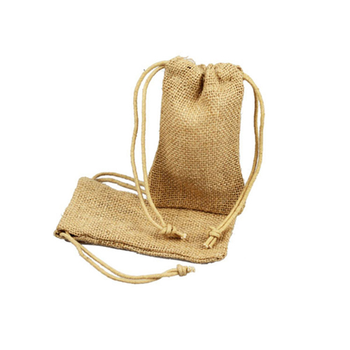 3 x 5.5 NATURAL DRAWSTRING JUTE POUCHES