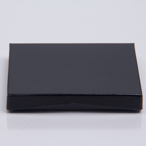 4-5/8 x 3-3/8 x 5/8 BLACK ICE GIFT CARD BOX WITH PLATFORM INSERT