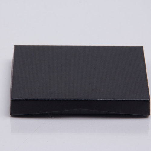 4-5/8 x 3-3/8 x 5/8 BLACK RIB GIFT CARD BOX WITH PLATFORM INSERT