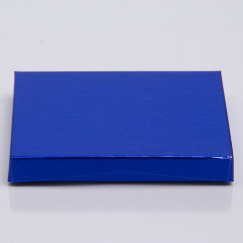 4-5/8 x 3-3/8 x 5/8 METALLIC BLUE GIFT CARD BOX WITH POP-UP INSERT