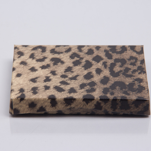 4-5/8 x 3-3/8 x 5/8 LEOPARD GIFT CARD BOX WITH PLATFORM INSERT