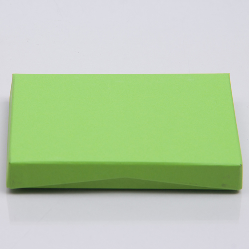 4-5/8 x 3-3/8 x 5/8 LIME MATTE GIFT CARD BOX WITH PLATFORM INSERT