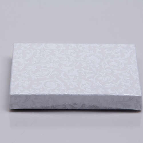 4-5/8 x 3-3/8 x 5/8 PEARL LACE GIFT CARD BOX WITH PLATFORM INSERT
