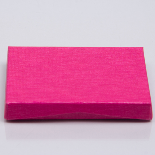 4-5/8 x 3-3/8 x 5/8 PINK RIB GIFT CARD BOX WITH POP UP INSERT