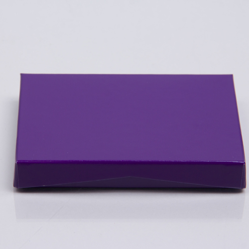 4-5/8 x 3-3/8 x 5/8 PURPLE ICE GIFT CARD BOX WITH POP UP INSERT