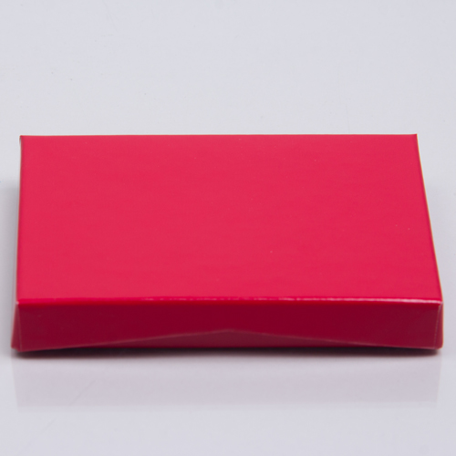 4-5/8 x 3-3/8 x 5/8 RED ICE GIFT CARD BOX WITH PLASTIC INSERT