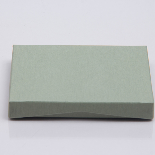 4-5/8 x 3-3/8 x 5/8 SAGE GREEN GIFT CARD BOX WITH PLASTIC INSERT