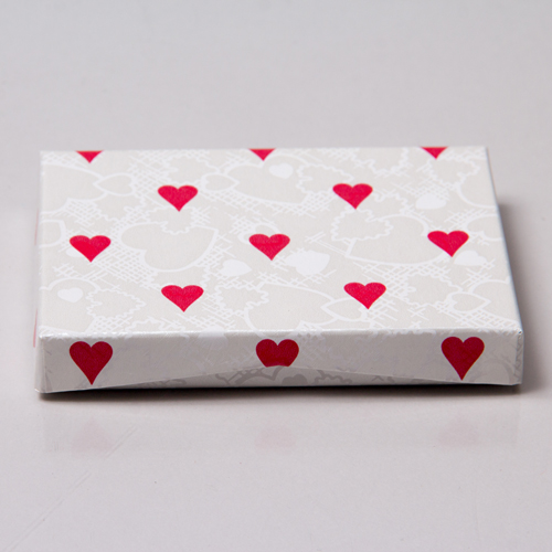 4-5/8 x 3-3/8 x 5/8 VAL. HEARTS GIFT CARD BOX WITH PLASTIC INSERT