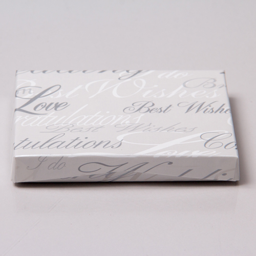 4-5/8 x 3-3/8 x 5/8 WEDDING WISHES GIFT CARD BOX WITH PLASTIC INSERT