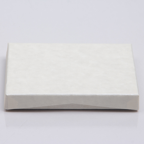 4-5/8 x 3-3/8 x 5/8 IVORY RIB GIFT CARD BOX WITH PLATFORM INSERT