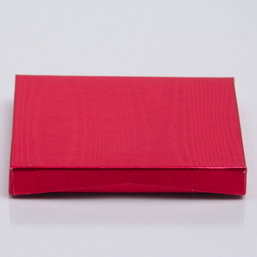 4-5/8 x 3-3/8 x 5/8 METALLIC RED GIFT CARD BOX WITH POP-UP INSERT