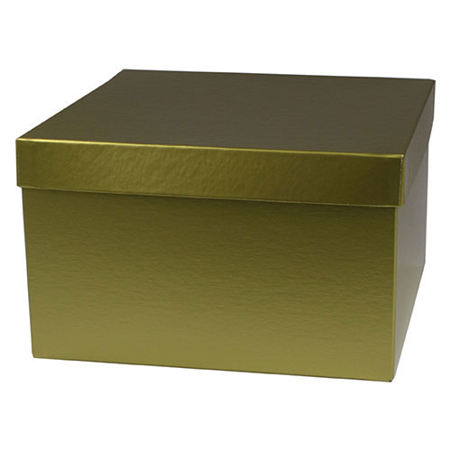 10 x 10 x 6 GOLD HI-WALL GIFT BOX BASES