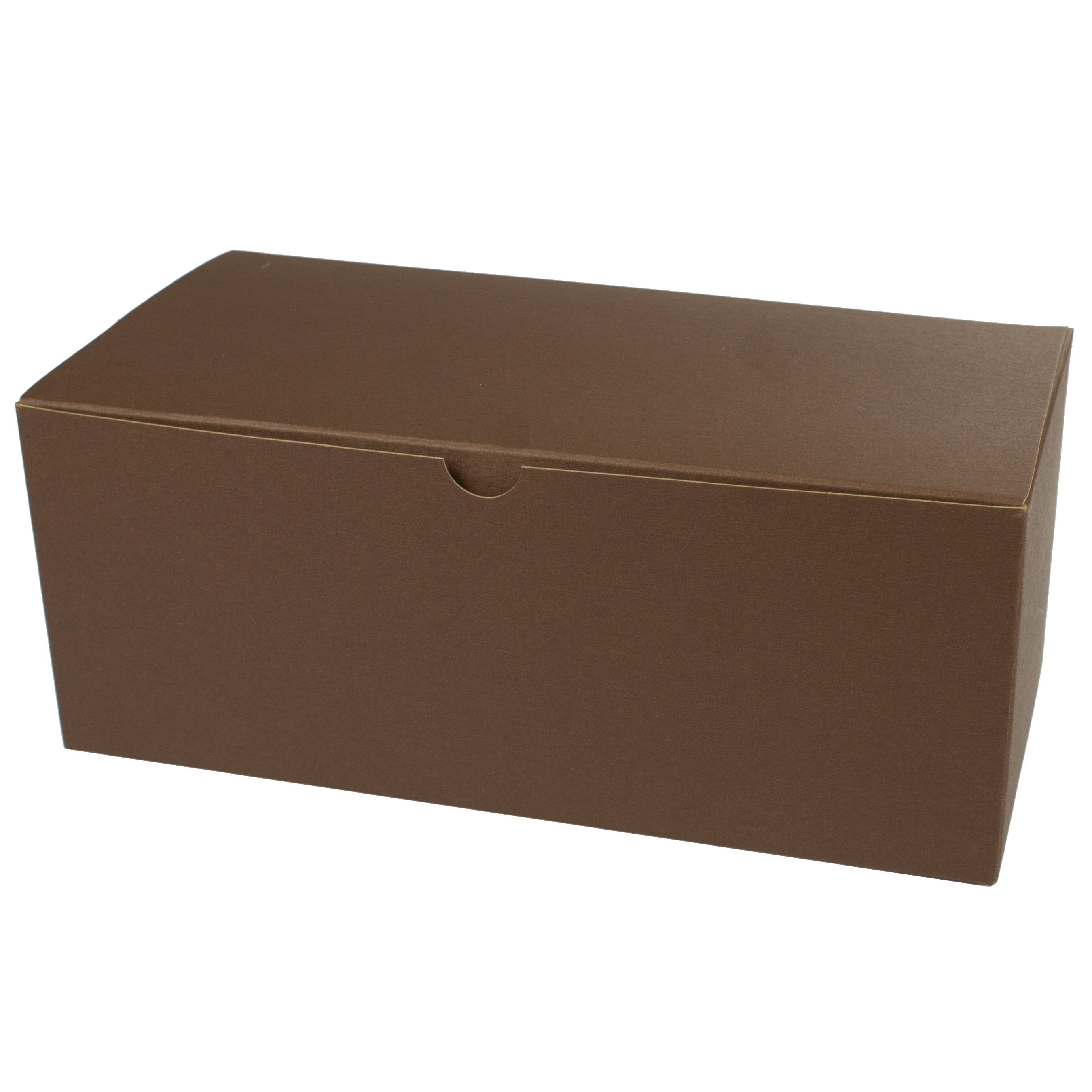 10 x 5 x 4 COCOA TINTED TUCK-TOP GIFT BOXES
