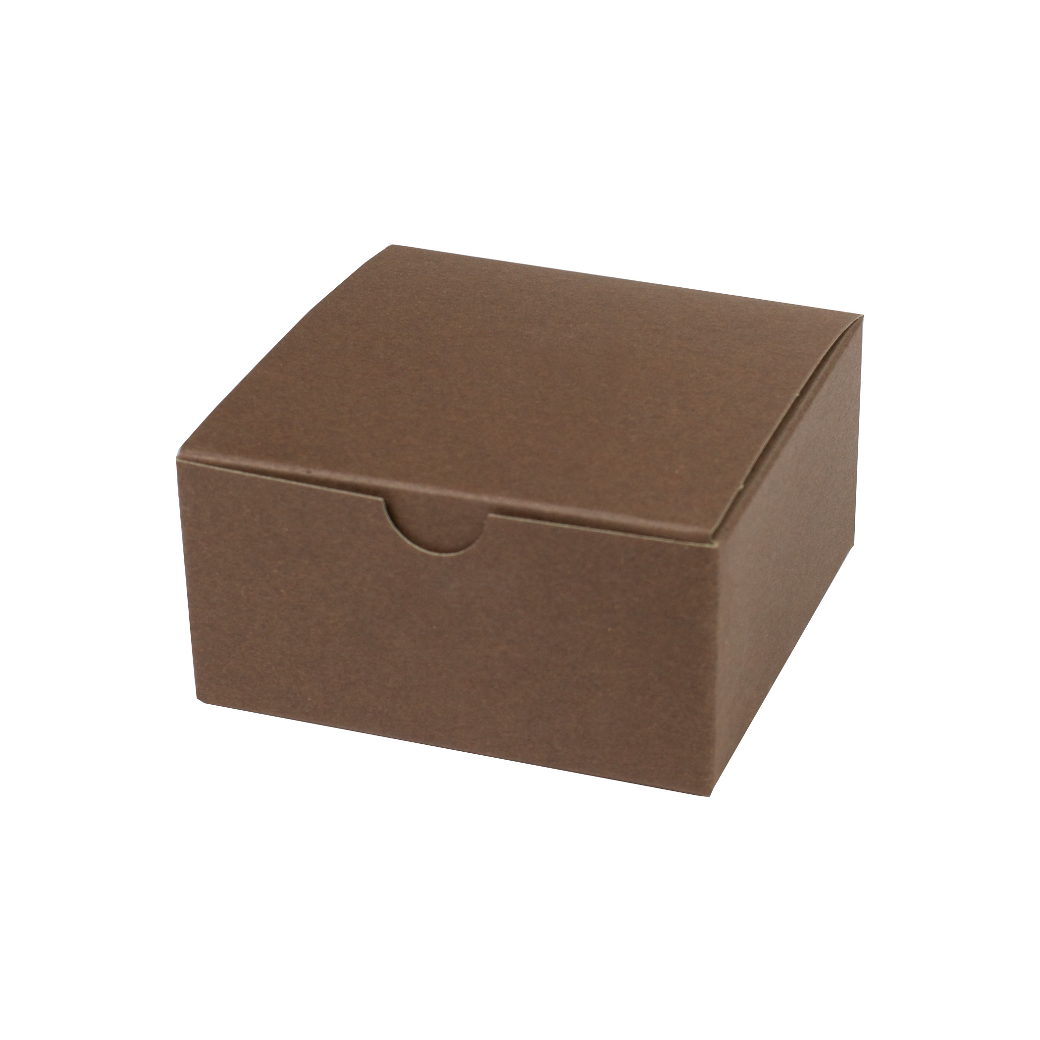 4 x 4 x 2 COCOA TINTED TUCK-TOP GIFT BOXES
