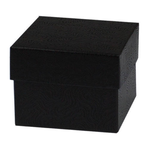 4x4x6 Black Swirl Hi Wall Gift Box Folding Bases