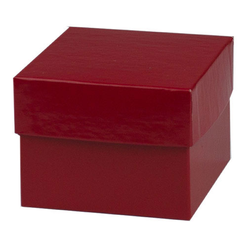 4 x 4 x 3 RED GLOSS HI-WALL GIFT BOX BASES