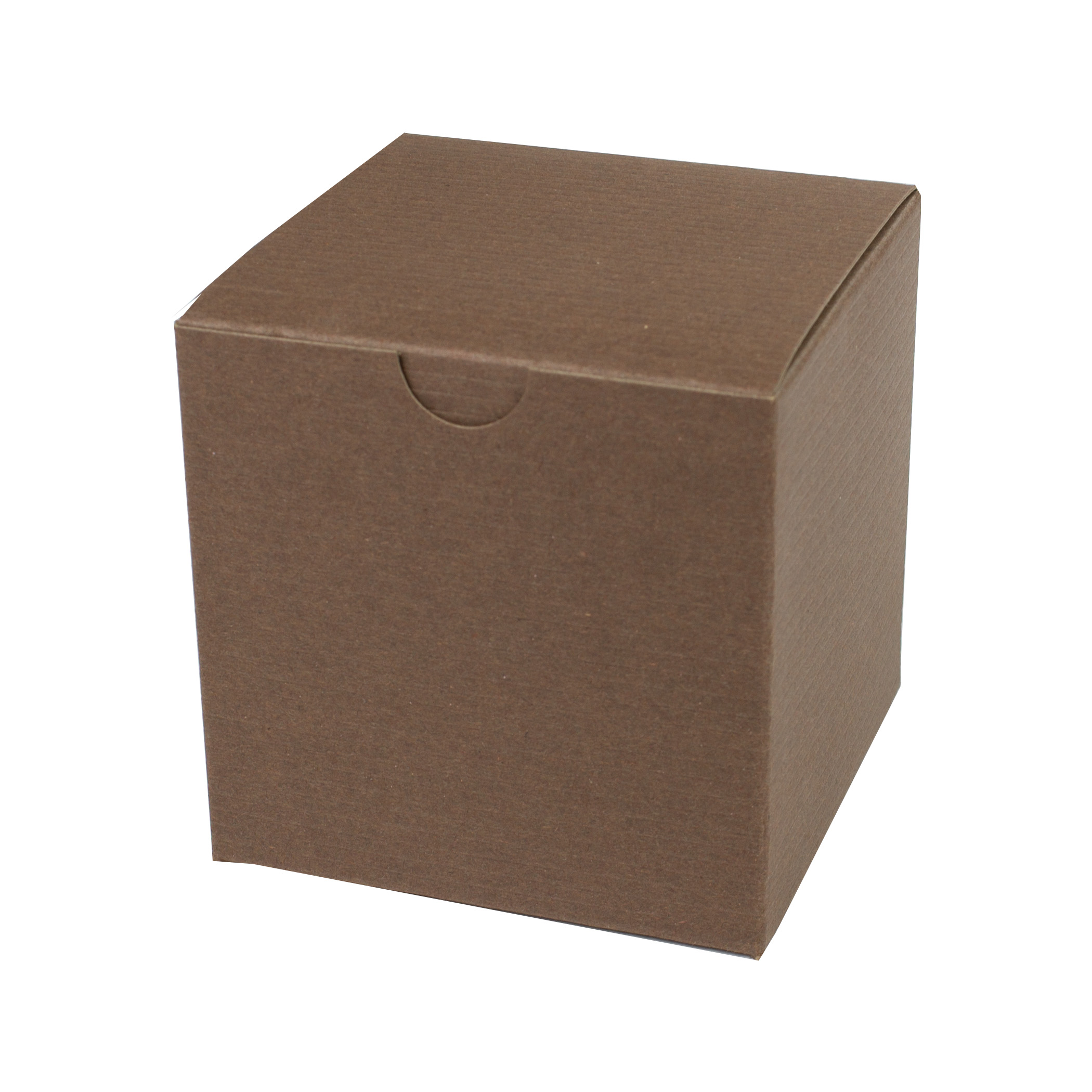 4 x 4 x 4 COCOA TINTED TUCK-TOP GIFT BOXES
