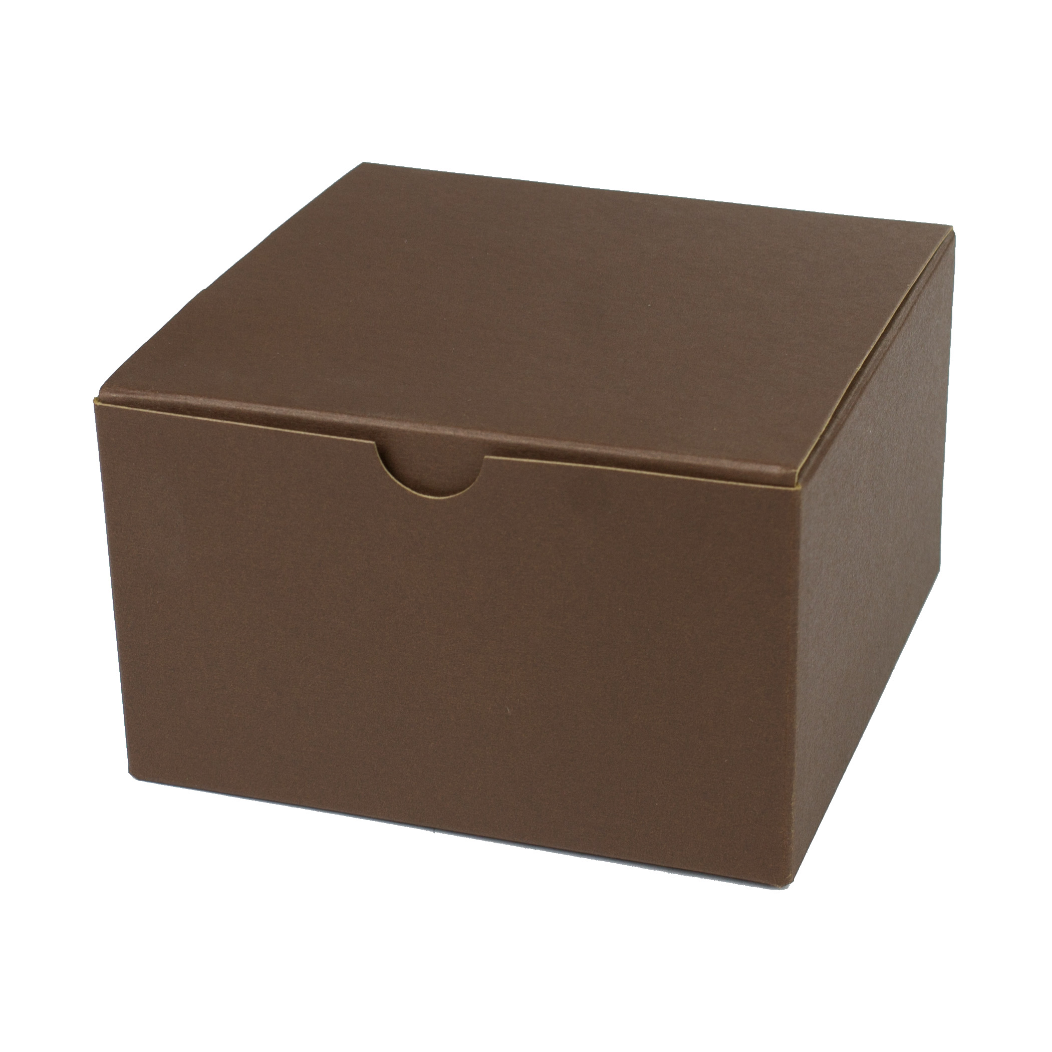 5 x 5 x 3 COCOA TINTED TUCK-TOP GIFT BOXES