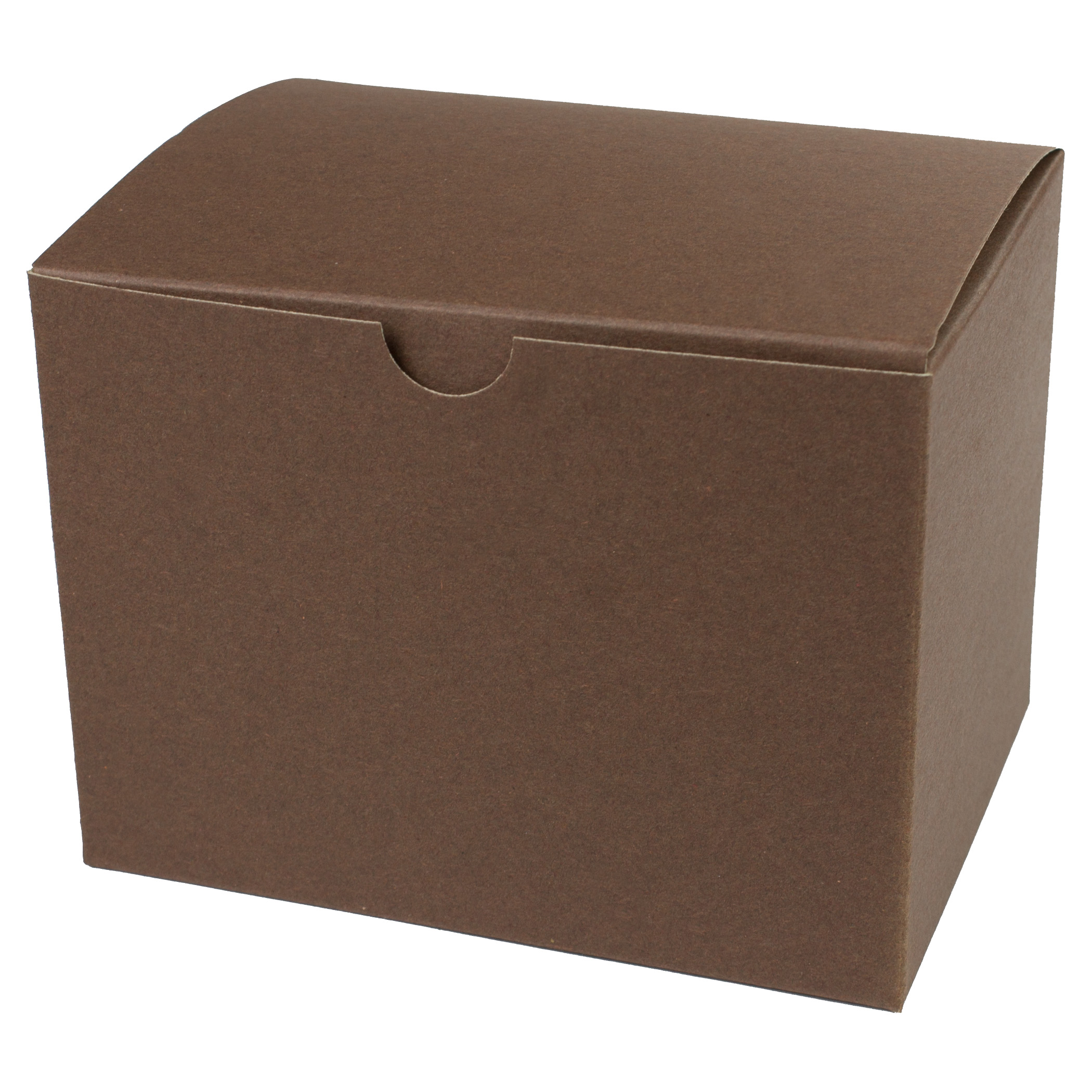 6 x 4.5 x 4.5 COCOA TINTED TUCK-TOP GIFT BOXES
