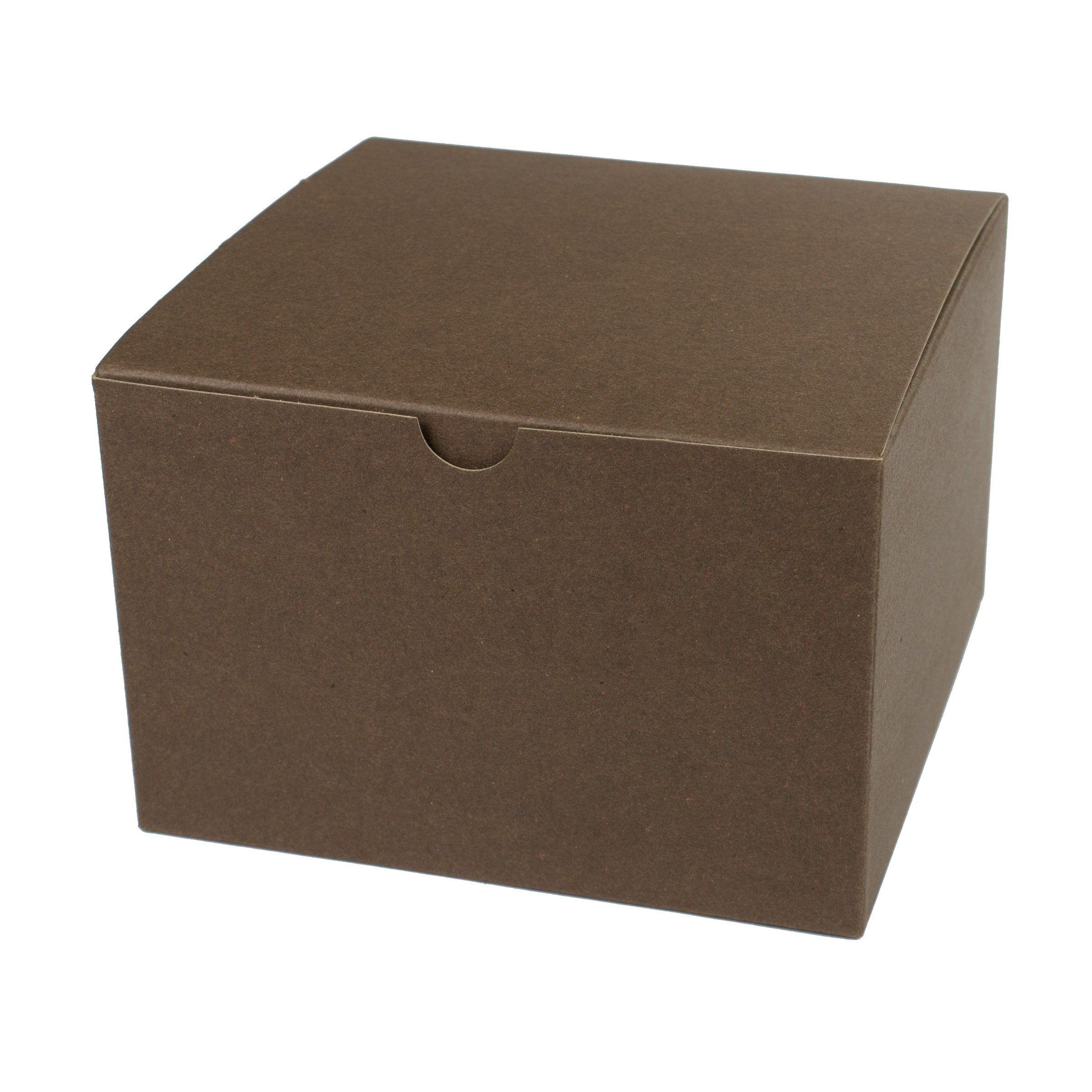 6 x 6 x 4 COCOA TINTED TUCK-TOP GIFT BOXES