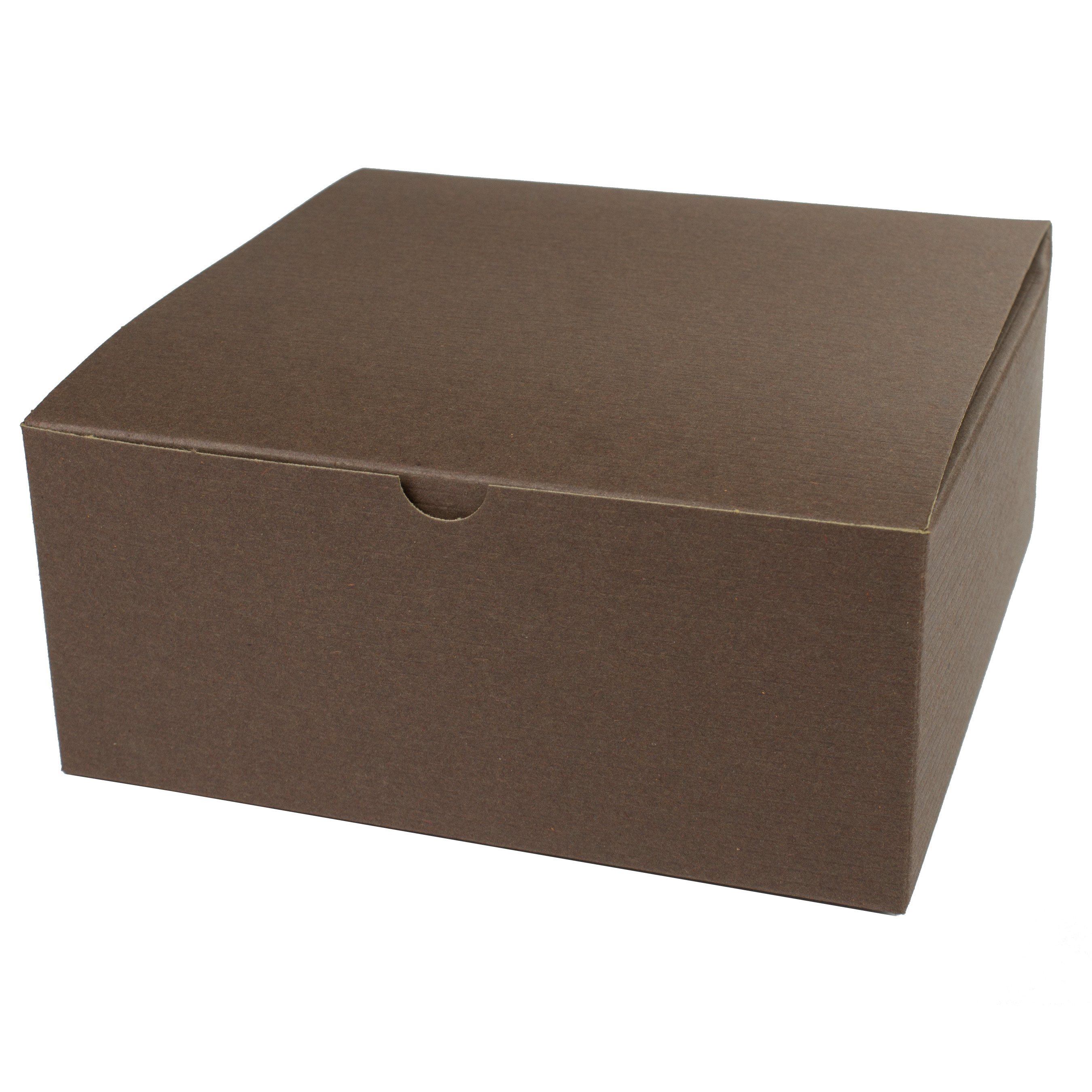 8 x 8 x 3.5 COCOA TINTED TUCK-TOP GIFT BOXES