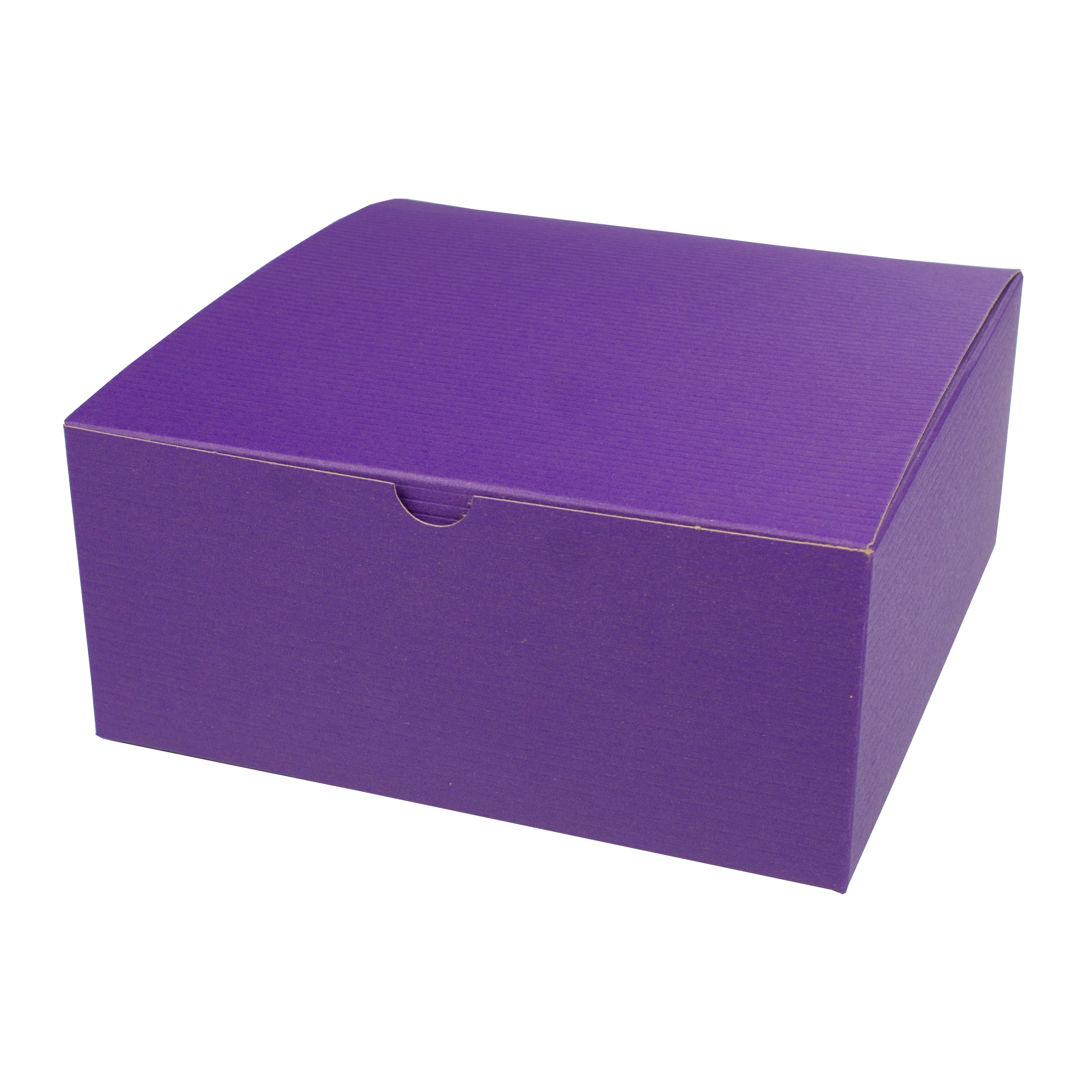 8 x 8 x 3.5 PURPLE TINTED TUCK-TOP GIFT BOXES
