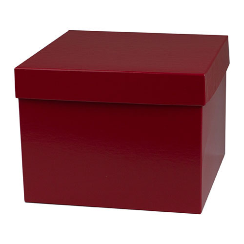 8 x 8 x 6 RED GLOSS HI-WALL GIFT BOX BASES