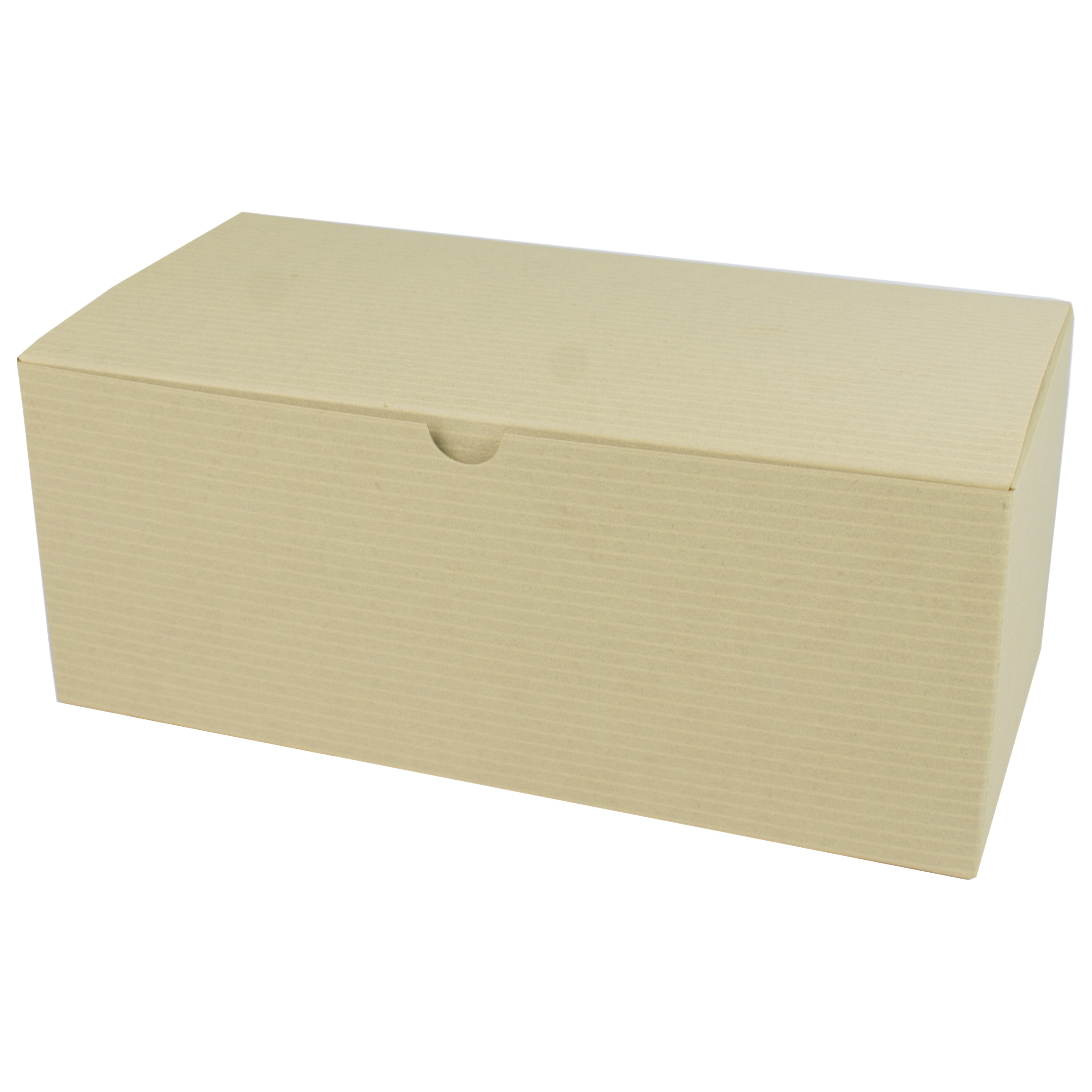 9 x 4.5 x 4.5 OATMEAL TINTED TUCK-TOP GIFT BOXES
