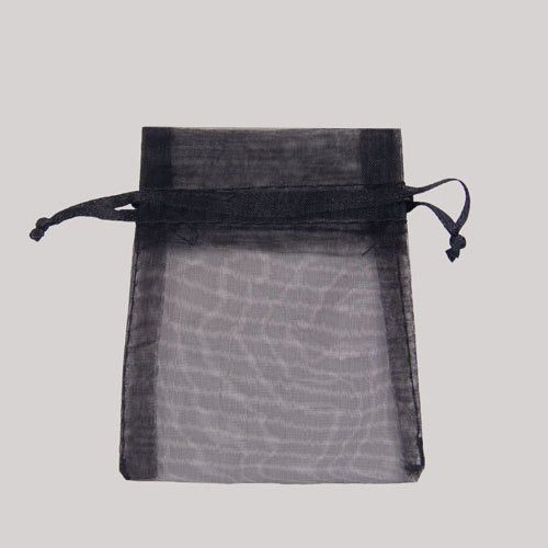 3 x 4 BLACK SHEER ORGANZA POUCHES