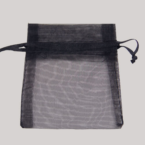 5 x 6.5 BLACK SHEER ORGANZA POUCHES