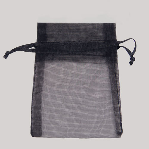 5.5 x 9 BLACK SHEER ORGANZA POUCHES