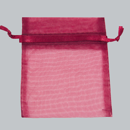 12 x 14 BURGUNDY SHEER ORGANZA POUCHES