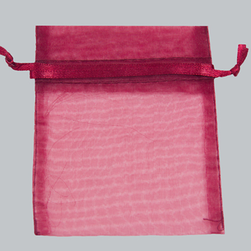 22 x 25 BURGUNDY SHEER ORGANZA POUCHES