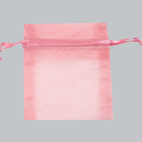 10X12 PINK SHEER ORGANZA POUCHES