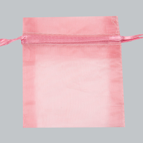 22X25 PINK SHEER ORGANZA POUCHES