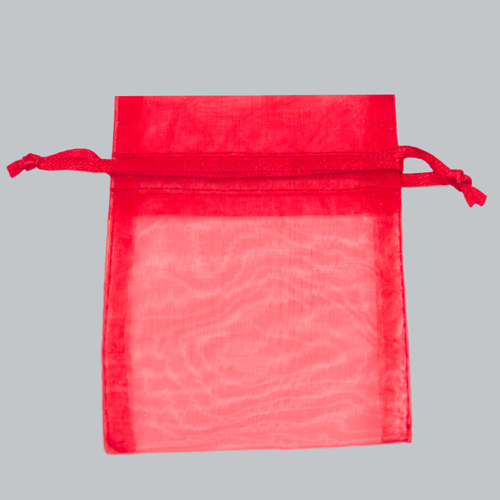 22X25 RED ORGANZA POUCHES