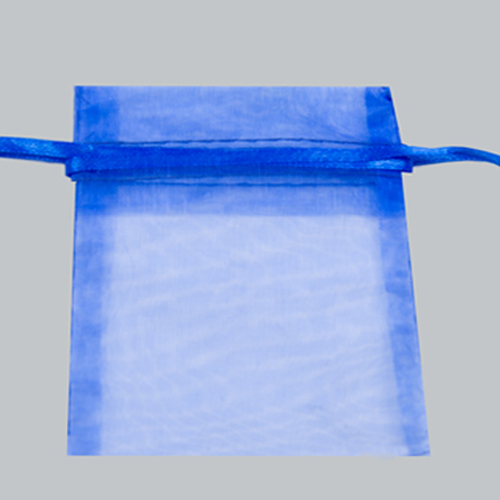 22X25 ROYAL BLUE ORGANZA POUCHES