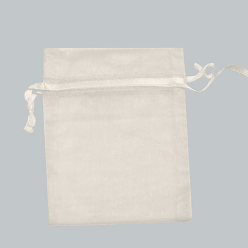 10X12 WHITE SHEER ORGANZA POUCHES