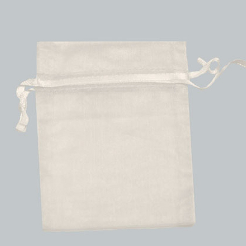 12X14 WHITE SHEER ORGANZA POUCHES