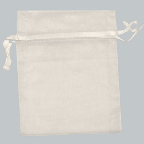 22X25 WHITE SHEER ORGANZA POUCHES