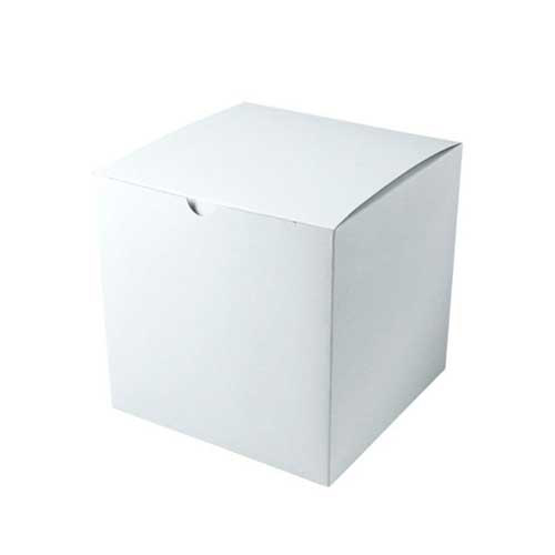 8 x 8 x 8.5 WHITE GLOSS TUCK-TOP GIFT BOXES