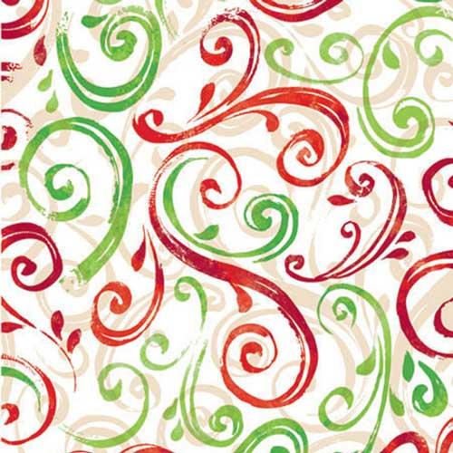 24 x 100 christmas swirl gift wrap