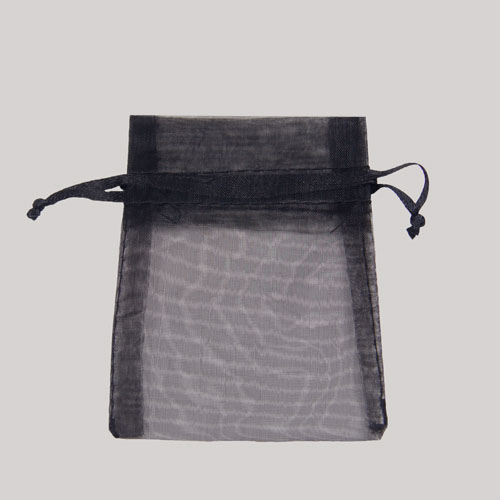 4 x 5 BLACK SHEER ORGANZA POUCHES