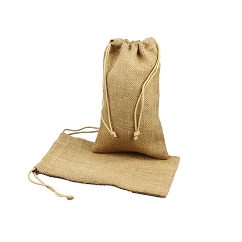 8 x 12 NATURAL DRAWSTRING JUTE POUCHES