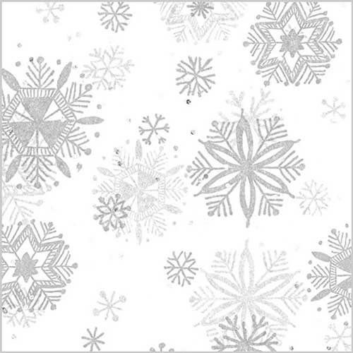 20 x 30 DIAMOND SNOWFLAKES GEMSTONE TISSUE PAPER