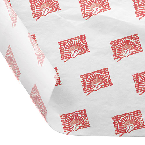 12 x 12 FOOD SAFE TISSUE BASKET LINERS 18# DRY WAX - BRICK OVEN