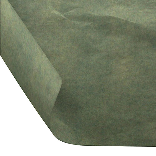 12 x 12 FOOD SAFE TISSUE BASKET LINERS 18# DRY WAX - BAY LEAF GREEN