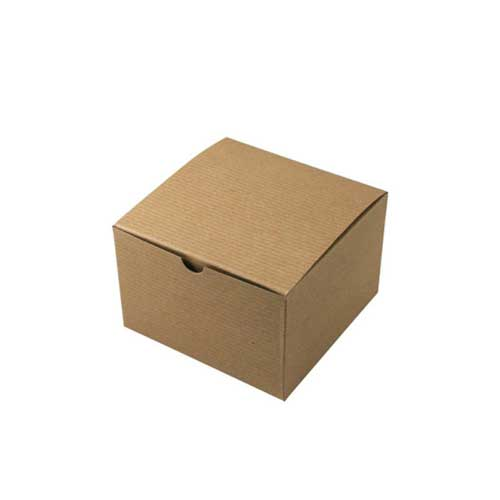 6 x 6 x 4 NATURAL KRAFT TUCK-TOP GIFT BOXES